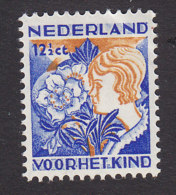 Netherlands, Scott #B61, Mint Hinged, Christmas Rose, Issued 1932 - Period 1891-1948 (Wilhelmina)
