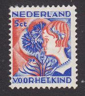 Netherlands, Scott #B59, Mint Hinged, Cornflower, Issued 1932 - Period 1891-1948 (Wilhelmina)