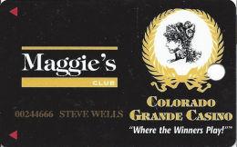 Colorado Grande Casino Cripple Creek, CO Slot Card - 7 Lines Text On Reverse - Casino Cards
