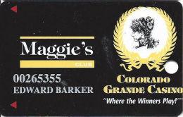 Colorado Grande Casino Cripple Creek, CO Slot Card - 8 Lines Text - 12.5mm Red-Brown Mag Stripe - Casino Cards