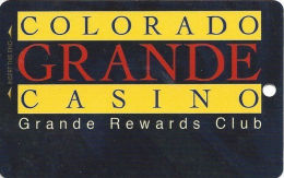 Colorado Grande Casino Cripple Creek, CO Slot Card - 1 Phone#  (BLANK) - Casino Cards