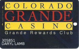 Colorado Grande Casino Cripple Creek, CO Slot Card - 1 Phone# - Casino Cards