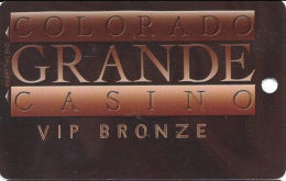 Colorado Grande Casino Cripple Creek, CO Slot Card - 2 Phone#s  (BLANK) - Dark Bronze Front - Casino Cards