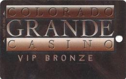 Colorado Grande Casino Cripple Creek, CO Slot Card - 2 Phone#s  (BLANK) - Light Bronze Front - Casino Cards