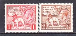 Great Britian   185-6    * - Unused Stamps