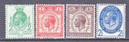 GREAT  BRITAIN  205-8   * - Unused Stamps