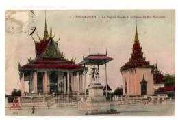 PNOM PENH La Pagode Royale Et Statue Du Roi Norodom - Cambogia