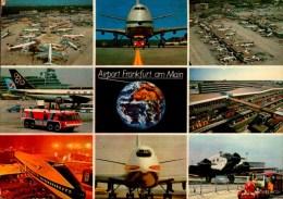 AIRPORT FRANKFURT AM MAIN..VUES DIVERS AVEC AVIONS....CPM - Aerodrome