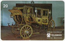 BRASIL D-443 Magnetic Telebras - Museum, Historic Horse-carriage - Used - Brésil