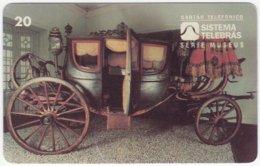 BRASIL D-446 Magnetic Telebras - Museum, Historic Horse-carriage - Used - Brésil