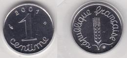 1 CENTIME EPI 2001  FDC SOUS BLISTER SCELLE BU (voir Scan) - A. 1 Centesimo