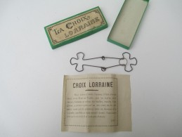 """Jeu Ancien/"""" La Croix Lorraine""""/Casse-tête/J F J /avec Solution/Vers 1880-1900    JE160 - Brain Teasers, Brain Games"""