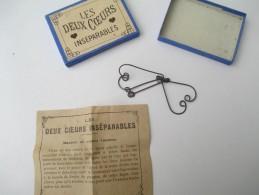 """Jeu Ancien/""""Les Deux Coeurs Inséparables""""/Casse-tête/J F J  /Paris / Avec Solution/Vers 1880-1900    JE167 - Casse-têtes"""