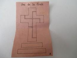 """Jeu Ancien/""""Jeu De La Croix """"/Casse-tête/J F J  /Paris / Avec Solution/Vers 1880-1900    JE168 - Casse-têtes"""