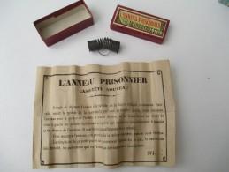 """Jeu Ancien/""""L'Anneau Prisonnier""""/Casse-tête/J F J  /Paris / Avec Solution/Vers 1880-1900    JE172 - Brain Teasers, Brain Games"""