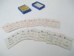 """Jeu Ancien/""""Demandes Et Réponses""""/Petite Boite:Provenance? /J F J ? /Paris / Avec Solution/Vers 1880-1900    JE176 - Group Games, Parlour Games"""