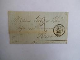 LILLE 21 JUIN 1850 (57) GROS CACHET SUR LETTRE DU 21 JUIN 1850 - 1849-1876: Période Classique