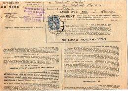TB 2004 - Lettre De La Perception De LOURCHES Pour HASPRES - Marcophilie (Lettres)