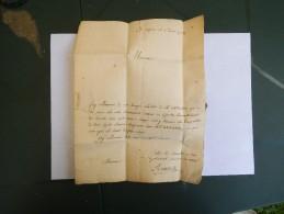 5 AVRIL 1782 COURRIER A MONSIEUR DE GUILHERMAIN BARON DE SEISSES ET AUTRES PLACES ET CONSEILLER DU PARLEMENT - Manuscrits