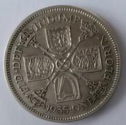 Grande-Bretagne -1 Florin 1935 - GEORGES V  - Argent - - 1902-1971 : Monnaies Post-Victoriennes