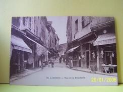 """LIMOGES (HAUTE-VIENNE) LES COMMERCES. LES MAGASINS. RUE DE LA BOUCHERIE.        037""""b"""" - Limoges"""