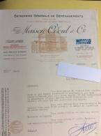 Lettre : Maison Odoul & Cie, Déménagements, 1948 - Vieux Papiers