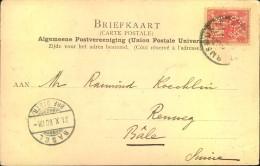 1900, Ppc Den Haag Mit 5 C. Wilhelmina, Perfin N.K. & Co. Kopfstehend - Brieven En Documenten