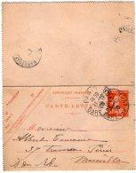 TB 2006 - Entier - Postal - Carte - Lettre MP PARIS Gare De Lyon Pour MARSEILLE - Postal Stamped Stationery
