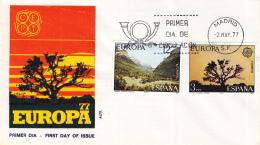 Spanje - FDC 2-5-1977 - Europa/CEPT: Landschaften - M 2299-2300 - 1977