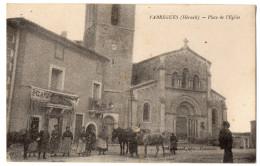 """"""" FABREGUES  - Place De L'Eglise """" TRES RARE ! - Frontignan"""
