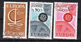 Andorre Française 178 180 Europa 22% De Cote Oblitéré Used Cote 9.9