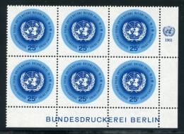 United Nations New York, 1965, Definitive 25 C, MNH MI6 Bundesdruckerei Berlin Imprint, Michel 159x, Gaines 149.1(a) - New York - Sede Centrale Delle NU