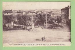 SAINT DIDIER  EN VELAY : Place Du Champ De Foire Et Square Du Poilu. St. 2 Scans. Edition Margerit Brémond M B - Saint Didier En Velay