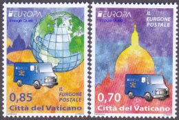 CEPT / Europa 2013 Vatican N° 1621 Et 1622 ** Véhicules Postaux - - Europa-CEPT