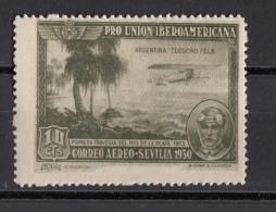 C51 Spagna 1930 Teodoro FELS Aereoplano Pro Union Iberoamericana Nuovo - Nuovi