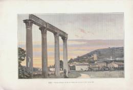 1903 - Phototypie Couleur - Riez (Alpes-de-Haute-Provence) - Les Restes Antiques - FRANCO DE PORT - Vieux Papiers