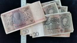 9 Billets Allemagne, Reichsbanknote 20 Mark 1929 - [ 3] 1918-1933 : République De Weimar