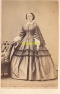 CVD CARTE DE VISITE PHOTO FEMME LADY DAME - Personnes Anonymes
