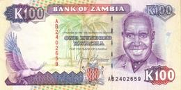 ZAMBIA 100 KWACHA ND (1991) P-34 UNC  [ZM135a] - Sambia