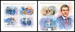 TOGO 2014 - Founding Of NATO - YT 3736-9 + BF798; CV = 31 € - Militaria