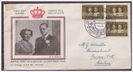Surinam / Suriname 1955 FDC 8-2M Visit Royal Family - Surinam