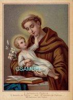 Chromo Religieuse - S. Antonio Di Padova – St Antoine De Padoue - Format 11/15 Cm. - (voir Scan). - Chromos