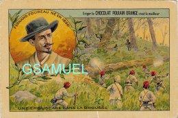 Chromo Poulain Orange - Foureau - Une Embuscade Dans La Brousse. - (voir Scan). - Poulain