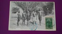 CONGO FRANCAIS HAUT OUBANGUI GROUPE DE SANGOS TIMBRE AVEC SURCHARGE - Afrique Du Sud, Est, Ouest