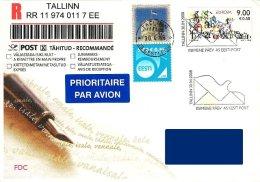 Estonia Estland Estonie 2008 (13) Europa 2008 - The Letter (addressed FDC) - Estonia