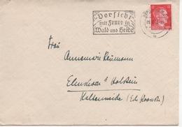 Deutsches Reich 1943 Hitler 12 Pf Auf Brief Von Berlin Zehlendorf Nach Elmshorn - On Letter - Gebraucht