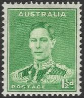 Australia. 1937-49 KGVI. 1½d Green MH. P15X14 SG 183 - 1937-52 George VI