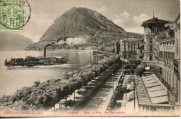 Suisse. Lugano. Quai E Mte San Salvatore - TI Ticino