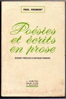 LIVRE  Paul FROMENT  Poésies Et Ecrits En Prose  Librairie Vertuel  Saint Cere Lot - Poésie