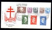 FDC,15-12-53  KOCH Et  Les Savants, 930 / 937, Cote 100 €, - 1951-60